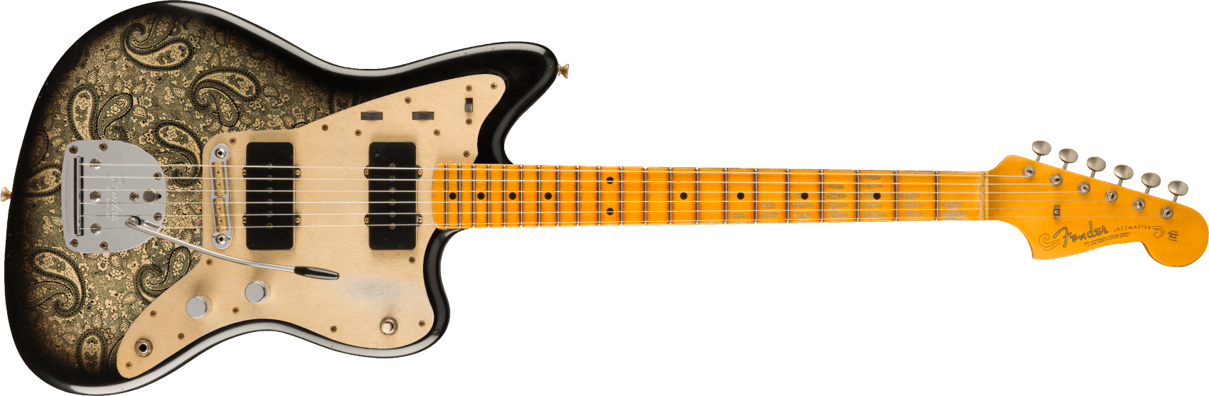 FENDER-Limited-Edition-Custom-Jazzmaster-Relic-Maple-Fingerboard-Aged-Black-Paisley-sku-571005356