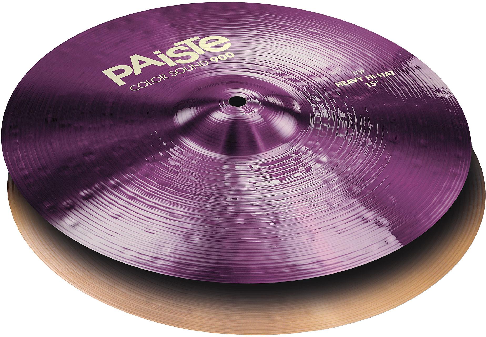 PAISTE-900CS-PUHHH15-Paiste-900-Color-Sound-Heavy-Hi-Hat-15-Purple-sku-610005184