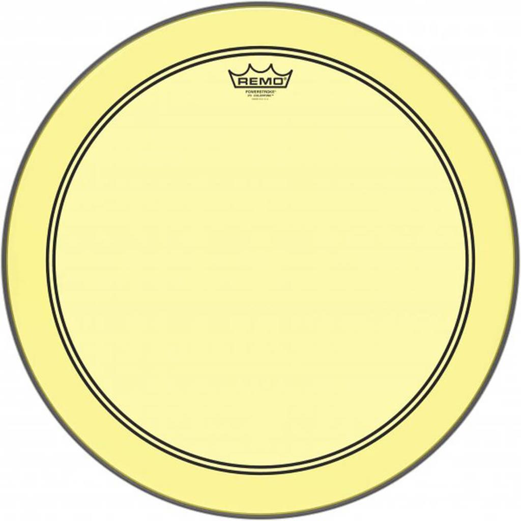 REMO P3-1318-CT-YE - Remo-Pelle battente/risonante Powerstroke3 COLORTONE Trasparente Cassa 18 Yellow - Batterie / Percussioni Accessori - Pelli e Cerchi