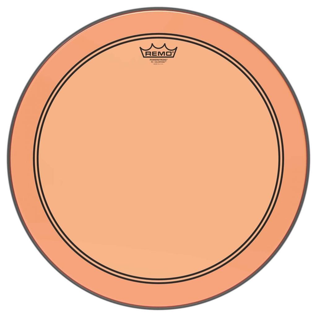 REMO P3-1326-CT-OG - Remo-Pelle battente/risonante Powerstroke3 COLORTONE Trasparente Cassa 26 Orange