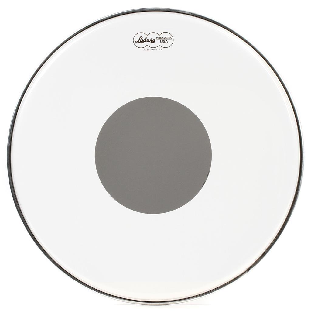 LUDWIG LW6116R - Ludwig pelle battente tom 16 Ambassador trasparente Silver Dot by Remo
