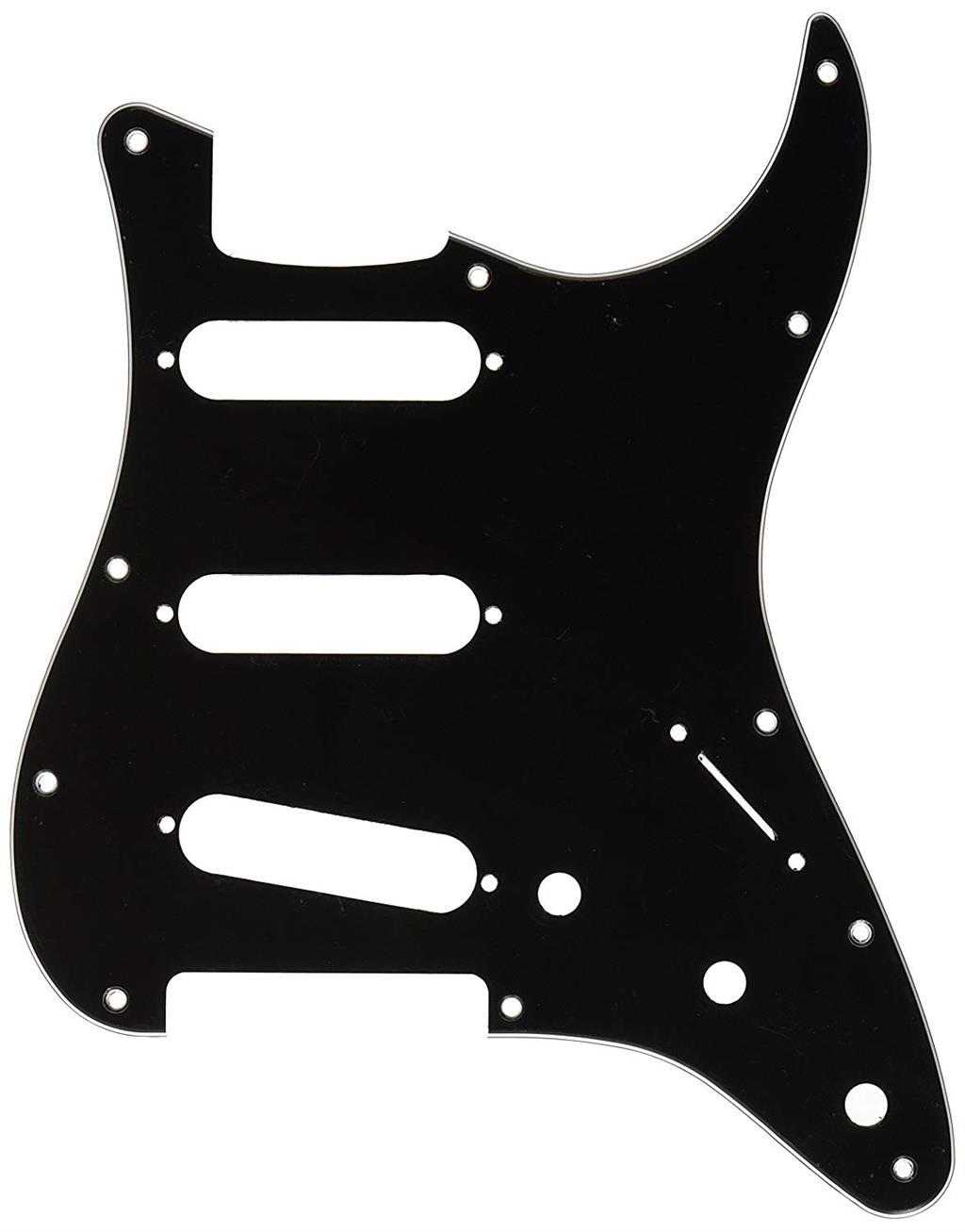 FENDER PICKGUARD STRATOCASTER BLACK STANDARD 3 PLY 0991359000
