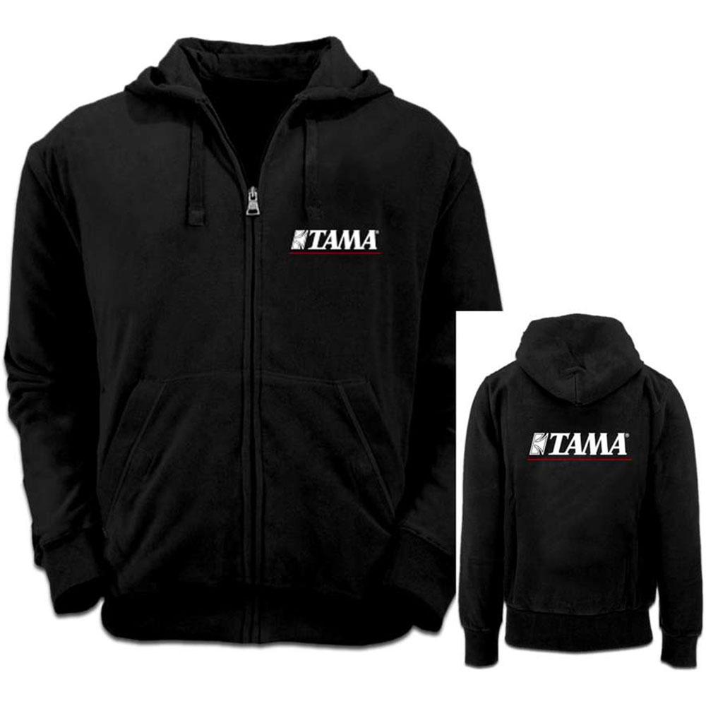 Tama Felpa - S - nera c/ logo bianco/rosso