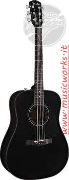 FENDER CD 60 S ACUSTICA BLACK - 0970110006