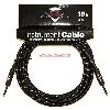 FENDER CUSTOM SHOP CABLE CAVO 15FT 4.5 METRI BLACK TWEED BKT - 0990820051