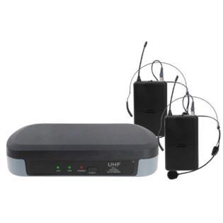 Karma SET 7302LAV - Doppio Radiomicrofono ad archetto UHF