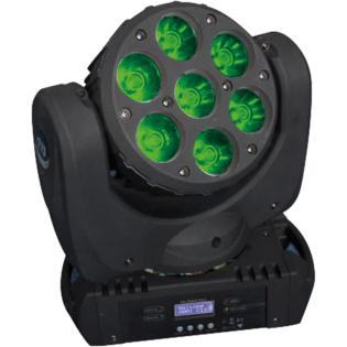 Karma ROCKIN HEAD2 - Testa mobile 7 leds 12W(CREE) - Voce - Audio Luci - Teste mobili