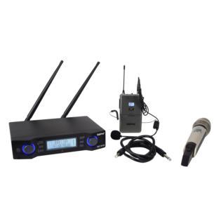Karma SET 8102PL - Doppio radiomicrofono UHF - Voce - Audio Microfoni - Wireless Voce