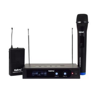 Karma SET 6252PL-B - Doppio radiomicrofono VHF palmare + archetto -