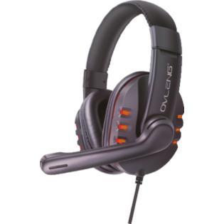 Karma Q7A - Cuffia gaming USB con microfono arancio